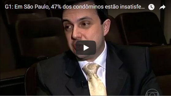 G1: Em São Paulo, 47% dos condôminos estão insatisfeitos com os síndicos – 24/09/2013